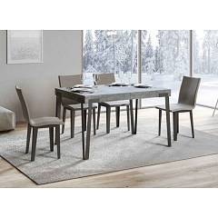 Itamoby Rio 130 Allungabile A 234 Extendable table l. 130 x 90 - anthracite metal structure with wood effect top
