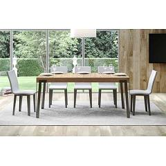 Itamoby Rio 180 Allungabile A 284 Extendable table l. 180 x 90 - anthracite metal structure with wood effect top