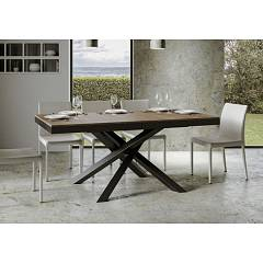 Itamoby Volantis Evolution 160 Allungabile A 264 Extendable table l. 160 x 90 - anthracite metal structure | gold with wood effect top