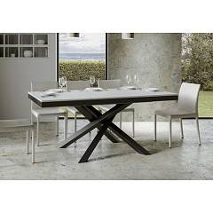 Itamoby Volantis Evolution 160 Allungabile A 420 Extendable table l. 160 x 90 - anthracite metal structure | gold with wood effect top