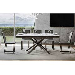 Itamoby Famas Evolution 180 Allungabile A 284 Extendable table l. 180 x 90 - anthracite metal structure with wood effect top