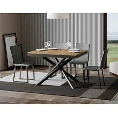 Itamoby Famas Evolution 120 Allungabile A 380 Extendable table l. 120 x 90 - anthracite metal structure with wood effect top