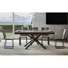 Itamoby Famas Evolution 160 Allungabile A 420 Extendable table l. 160 x 90 - anthracite metal structure with wood effect top