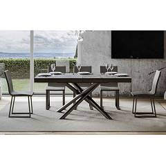 Itamoby Famas Evolution 180 Allungabile A 440 Extendable table l. 180 x 90 - anthracite metal structure with wood effect top