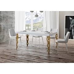 Itamoby Karamay Fix 180 Fixed table l. 180 x 90 - anthracite metal structure | gold with wood effect top