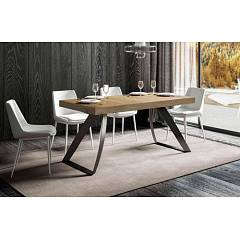 Itamoby Proxy Fix 180 Fixed table l. 180 x 90 - anthracite metal structure with wood effect top