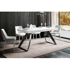 Itamoby Proxy 160 Allungabile A 264 Extendable table l. 160 x 90 - anthracite metal structure with wood effect top