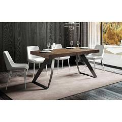 Itamoby Proxy 180 Allungabile A 284 Extendable table l. 180 x 90 - anthracite metal structure with wood effect top