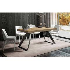 Itamoby Proxy 160 Allungabile A 420 Extendable table l. 160 x 90 - anthracite metal structure with wood effect top