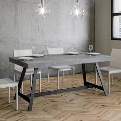 Itamoby Achille Fix 180 Fixed table l. 180 x 90 - anthracite metal structure with wood effect top