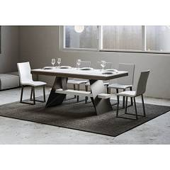 Itamoby Baita Evolution 160 Allungabile A 420 Extendable table l. 160 x 90 - anthracite metal structure with wood effect top