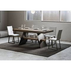 Itamoby Baita Evolution 180 Allungabile A 440 Extendable table l. 180 x 90 - anthracite metal structure with wood effect top