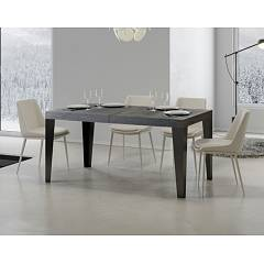 Itamoby Flame 180 Allungabile A 284 Extendable table l. 180 x 90 - anthracite metal structure | gold with wood effect top