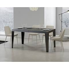 Itamoby Flame 180 Allungabile A 440 Extendable table l. 180 x 90 - anthracite metal structure | gold with wood effect top