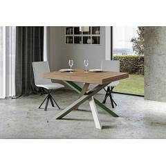 Itamoby Volantis Multicolor 4a 130 Allungabile A 234 Extendable table l. 130 x 90 with white / moss gray / olive gray / green structure and wood effect top