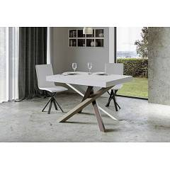 Itamoby Volantis Multicolor 4c 130 Allungabile A 234 Extendable table l. 130 x 90 with white / pale brown / gray / chocolate brown structure and wood effect top