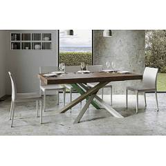 Itamoby Volantis Multicolor 4a 160 Allungabile A 264 Extendable table l. 160 x 90 with white / moss gray / olive gray / green structure and wood effect top