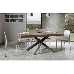 Itamoby Volantis Multicolor 4c 160 Allungabile A 264 Extendable table l. 160 x 90 with white / pale brown / gray / chocolate brown structure and wood effect top