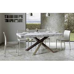 Itamoby Volantis Multicolor 4c 180 Allungabile A 284 Extendable table l. 180 x 90 with white / pale brown / gray / chocolate brown structure and wood effect top