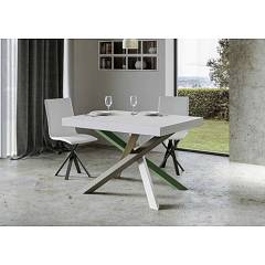 Itamoby Volantis Multicolor 4a 130 Allungabile A 390 Extendable table l. 130 x 90 with white / moss gray / olive gray / green structure and wood effect top
