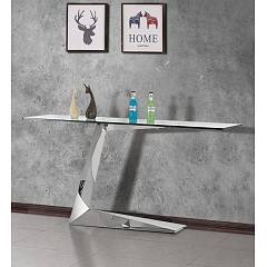 Itamoby Matar Fixed console 130x80x45 cm - metal structure with transparent glass top