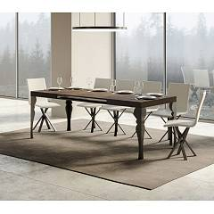 Itamoby Paxon 160 Allungabile A 420 Extendable table l. 160 x 90 - anthracite metal structure | gold with wood effect top