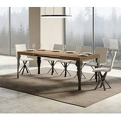Itamoby Paxon 180 Allungabile A 284 Extendable table l. 180 x 90 - anthracite metal structure | gold with wood effect top