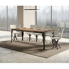 Itamoby Paxon Evolution 160 Allungabile A 420 Extendable table l. 160 x 90 - anthracite metal structure | gold with wood effect top