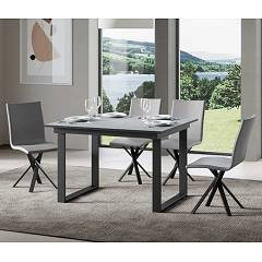 Itamoby Bandos 120 Allungabile A 180 Extendable table l. 120 x 90 - anthracite metal structure with wood effect top