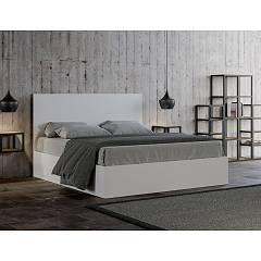 Itamoby Egos Double bed with container - matt white wood effect structure - without cushions - with | without mattress