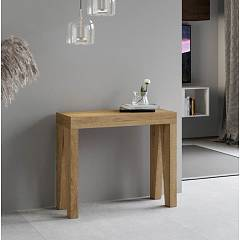 Itamoby Naxy Small Console extensible 90x77x40 cm effet bois