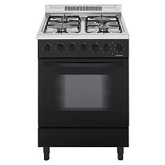 Jollynox 1ca60m7n Support kitchen cm. 60 x 60 - black - multisette oven - 4 gas