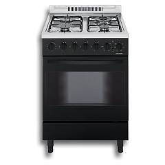 Jollynox 1ca60mn Support kitchen cm. 60 x 60 - black - multifunction oven 3 gas + triple crown