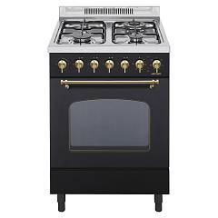 Jollynox 1car60mn Support kitchen cm. 60 x 60 - matt black multifunction oven - 3 gas - triple crown
