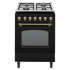 Jollynox 1ccr60mn Support kitchen cm. 60 x 60 - matt black multifunction oven - 4 gas