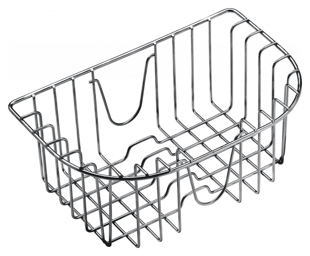 Suspended polished stainless steel basket for tub 34 x 39 and megan in stainless steel 86 x 50