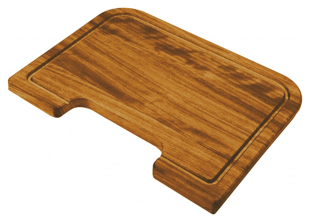 Rectangular shaped iroko cutting board for 40 x 40 and 50 x 40 tubs