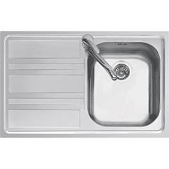 Jollynox 1llf80/1s3k Built-in sink cm 79x50 - inox 1 bathtub + left dropped Life