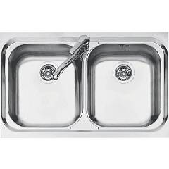 Jollynox 1llf80/23k Built-in sink cm 79x50 - inox 2 tanks Life