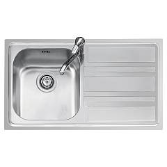 Jollynox 1llf90/1d3k Built-in sink 86x50 cm - inox 1 bathtub + drawn roller Life