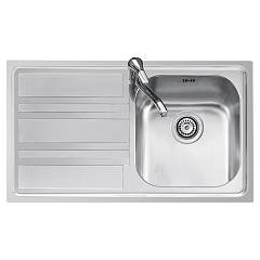Jollynox 1llf90/1s3k Built-in sink 86x50 cm - inox 1 bathtub + left dropped Life