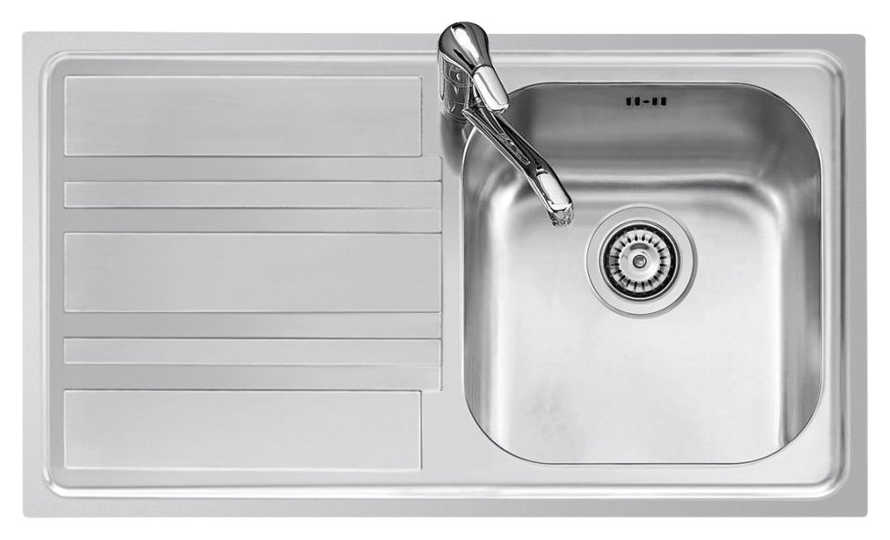 Jollynox built-in sink 1 bowl 1LLF90 / 1S3K - 86 x 50 with left drainer - stainless steel