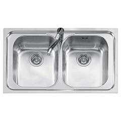 Jollynox 1llf90/23k Built-in sink 86x50 cm - inox 2 tanks Life