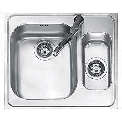 Jollynox 1i60k Built-in sink cm 58.5x50 - inox 1 bathtub + 1/2 Vega