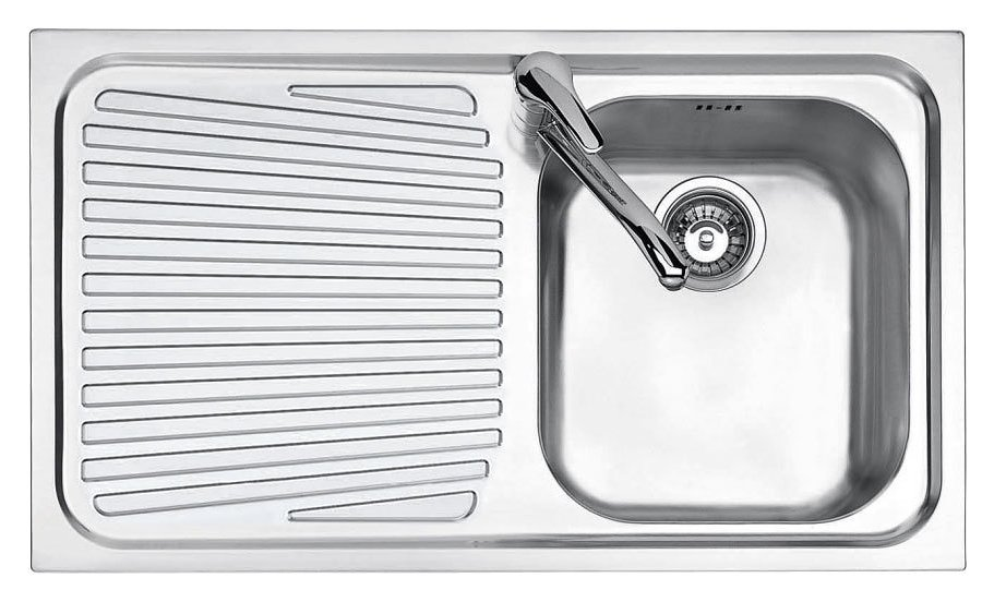 Jollynox built-in sink 1 bowl 1I90 / 1.91SK - 86 x 50 with left drip - stainless steel - front
