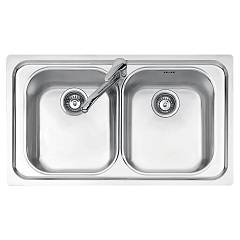 Jollynox 1i90/2.91k Built-in sink 86x50 cm - inox 2 tanks Vega