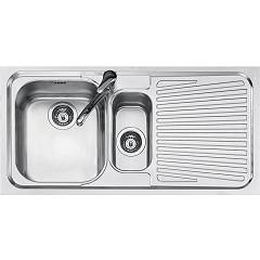 Jollynox 1i100dk Built-in 1 1/2 bowl sink 100 x 50 with right drip - stainless steel Vega