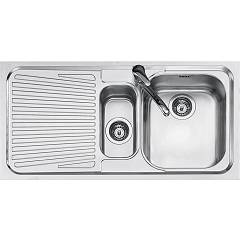 Jollynox 1i100sk Built-in sink 100x50 cm - inox 1 bathtub + 1/2 + left dropped Vega