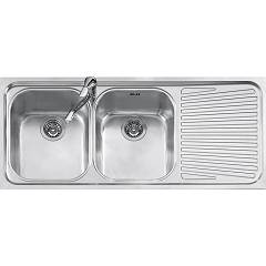 Jollynox 1i120/2.91dk 2 bowl built-in sink 116 x 50 with right drip - stainless steel Vega
