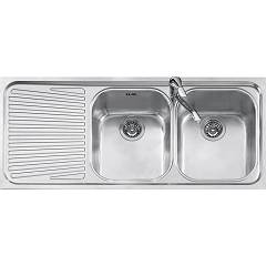 Jollynox 1i120/2.91sk Recessed sink 116x50 cm - inox 2 tanks + left dropped Vega